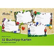 32 Buchtipp-Karten (KS): Grundschule, Deutsch, Klasse 1-4