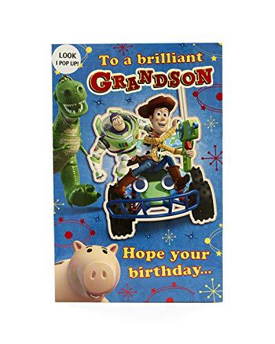 Carlton 418253-0Disney Toy Story Buzz Lichtjahr und Woody Grandson Geburtstagskarte