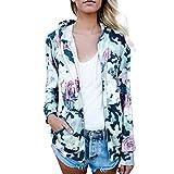 Honestyi Damen Langarmshirt Tops Elegant T-Shirt Sweatshirt Bluse Fashion Womens Floral Print Top Mantel Outwear Sweatshirt Kapuzenmantel über Fell