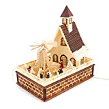 Colours-Manufaktur Haus mit elektrischer Pyramide - Weihnachten in Familie * Hergestellt im Erzgebirge *