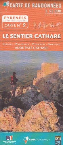 N ° 9 Le Sentier Cathare, Quéribus, Peyrepertuse, Puylaurens, Montségur, Aude Pays Cathare 1:50.000 carte topographique randonnée (Pyrénées) par RANDOMAPS
