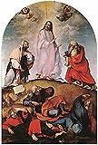 Toperfect €50-€2000 Tableau Peint à la Main - Transfiguration 1510 Renaissance Lorenzo Lotto Peinture à l'huile en Toile - Tableaux d'art-Taille11