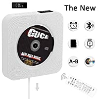 Portable CD Player,Wall Mountable Built-in HiFi Speakers, Home Audio Boombox with Remote Control FM Radio USB MP3 3.5mm Headphone Jack AUX Input/Output with Pulling-Switch,White