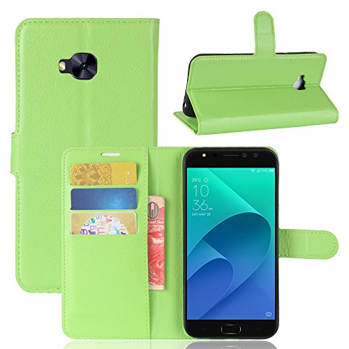 casefirst ASUS ZenFone 4 Selfie Pro ZD552KL Case Luxury PU Leather Wallet Flip Protective Wallet case Case Cover with Card Slots and Stand for ASUS ZenFone 4 Selfie Pro ZD552KL Green