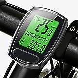 IPSXP Computer di Bicicletta, Impermeabile Contachilometri Bici Display Retroilluminatoper Tachimetro Multifunzione Bici Contachilometri con Sensore di Movimento