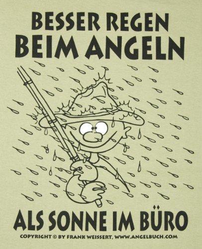 T-Shirt Besser Regen beim Angeln >Gr.XXXL