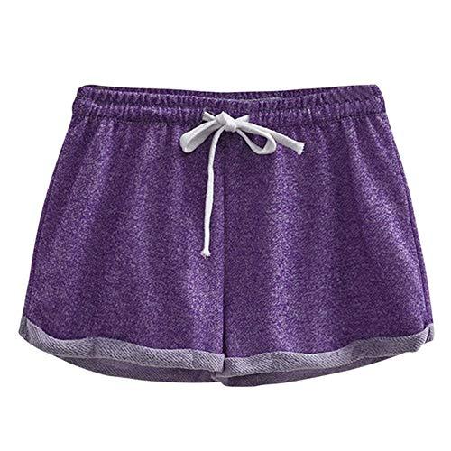 WUJIANCHAO Shorts 2019 Sport Frauen Shorts Fitness Sommer Frauen heißer Damen Shorts für schlafen schwarz Gym Shorts Frauen Lila