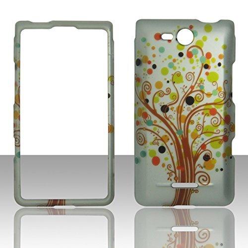 2D Love Tree LG Lucid 4G LTE VS840Verizon Schutzhülle Cover Snap On Cover Fällen Gummierte Matte Oberfläche Hard - Lg Lucid Telefon Für Fällen Verizon