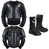 Rüstung kostüm - Kinder Motorrad Körperschutz Mit Motorradschuhen Motorradstiefeln Lederstiefel Motorrad Gear Armors Motocross Bikes Schutz CE-geprüfte Jacke - Jahr 6