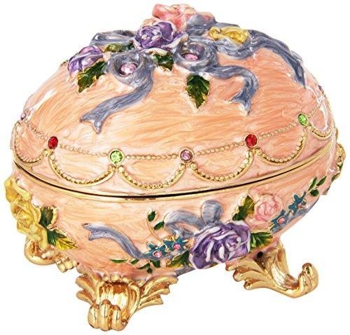 Design Toscano FH1585 Œuf Emaillé Style Fabergé Renaissance, Émail, 6.5 x 9 x 7.5 cm