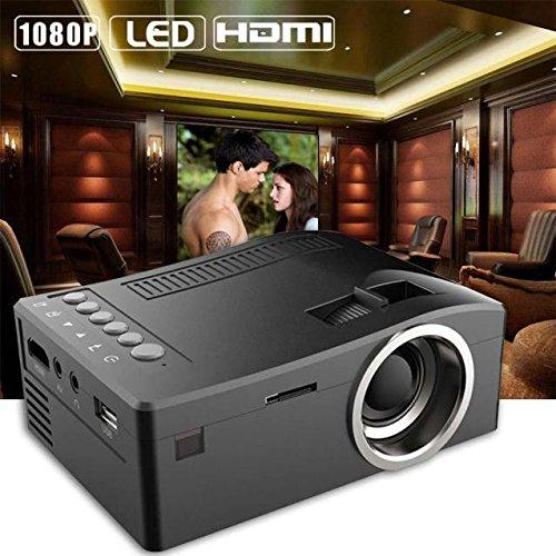 htfrgeds Mini Beamer, 400 Lumen HD 1080P LED 48LUX Video Projektor mit 13-60Zoll Display, Lebensdauer, Heimkino Projektor Kompatibel mit Amazon Fire TV Stick, HDMI/VGA/AV/USB (1080p Tv 60 Zoll)