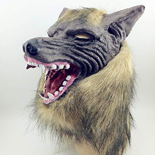 Yuahwyehe Werwolf Maske + Handschuhe Perfekt Für Eine Spaßige Erinnerung,Halloween, Weihnachten, Ostern, Karneval, Kostüm-Partys, Themen-Partys Oder Einfach Den Gang in Einen - Einfach Das Werwolf Kostüm