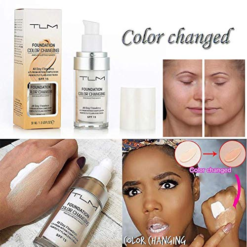 AidmonoR 30ML Concealer Cover, Flawless Farbwechsel Foundation Makeup Base Nude, Gesicht Liquid...