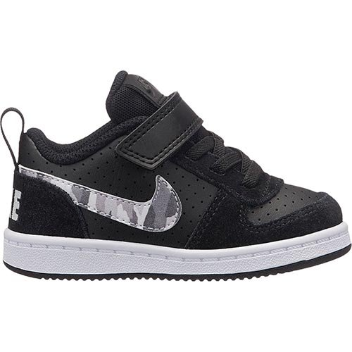 new style f3df3 06e48 Nike Court Borough Low (TDV), Chaussons Bas Mixte Bébé, Multicolore (Black