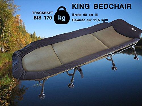 Karpfenliege Campingliege CarpOn XXL Liege Bedchair