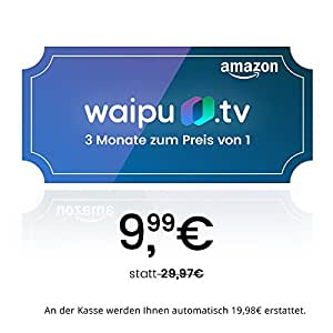 waipu.tv - Gutscheincode | TV-App für Fire TV und Smartphone | 3 Monate zum Preis von 1