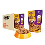 #9: Kennel Kitchen Dog Food for both Adult & Puppy Lamb Chunks in Gravy 100 Grams (20-Pack)