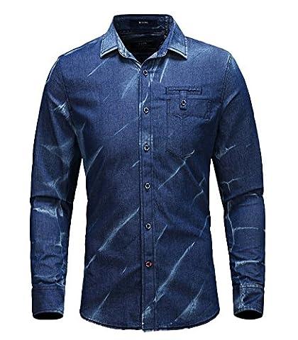 Icegrey - Chemise casual - Homme - Bleu - XXX-Large