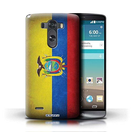 Kobalt® Imprimé Etui / Coque pour LG G3/D850/D855 / Italie/italien conception / Série Drapeau Equateur/équatorien