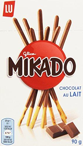 Lu Mikado au Chocolat au Lait 90 g - Lot de 6