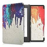 kwmobile Cover per Kobo Glo HD (N437) / Touch 2.0 - Custodia protettiva a libro per e-reader in similpelle - Case flip per e-book reader Design arcobaleno colori colanti multicolore rosso beige - kwmobile - amazon.it