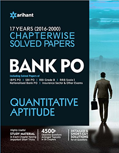 Bank PO Quantitative Aptitude Chapterwise Solved Papers (Old Edition)