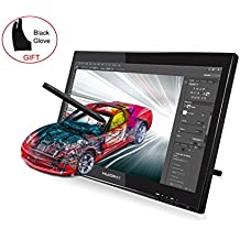 Huion GT-190 Tableta Gráfica Con Pantalla TFT, 2048 Niveles Dibujo Monitor, Incluye1 Dibujo Guante y 2 Bolígrafo