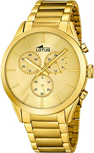 Reloj Lotus Cronógrafo Caballero Dorado 18115/1