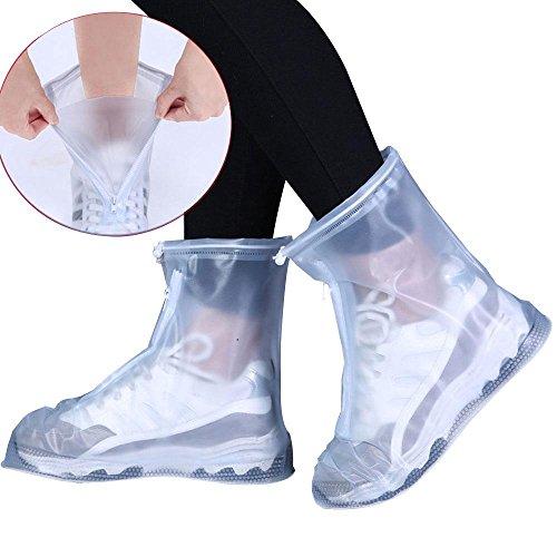 UMIWE Stivali da pioggia copri scarpe, impermeabili, riutilizzabili, pieghevoli, con suola più spessa, per viaggi, ciclismo, campeggio, pesca, giardinaggio, per donne, uomini e bambini
