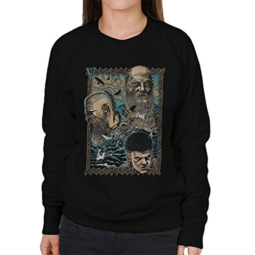 Vikings Legacy Love Legend Boja Women's Sweatshirt Black