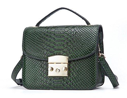 Xinmaoyuan borse Donna Primavera borsette di cuoio fibbia piccola piazza Borsa portatile borsa messenger,verde Verde