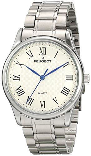 Peugeot 1027S Men's Silver-tone Vintage Guilloche Dial Watch