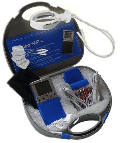 Inkontinenz-klemme (EMS/Tens 2-Kanal Reizstromgerät EMT-4 plus Anal- / Vaginalsonde PR-08 + Klemmen. Medizinprodukt für wirksame Schmerz- und Muskelbehandlung)