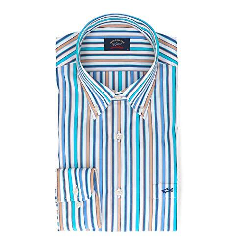 Paul & shark camicia uomo p19p3092130 cotone azzurro