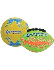 Schildkröt Fun Sports 970282 Balles Mixte Enfant, Jaune Bleu/Vert Orange, Taille Unique