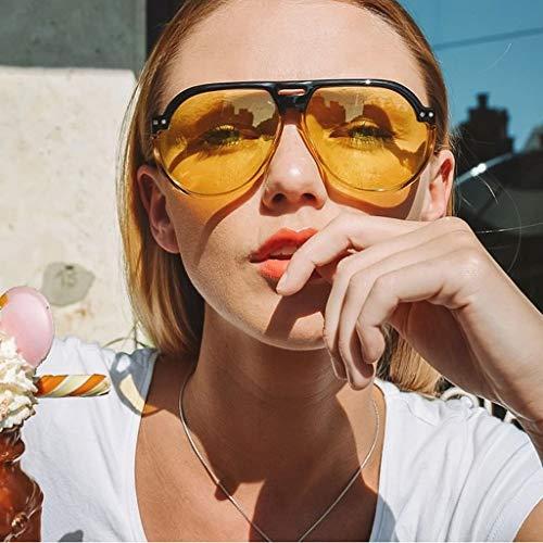 Fcostume Frauen Männer Vintage Eye Sonnenbrillen Retro Eyewear Mode Strahlenschutz (Gelb)