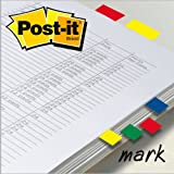 Post-it Index Small in Clear Dispenser, 140 Flags - 4 Colours x 35 per Pack