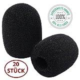 20x Windschutz für Mikrofon | Geräuscheschutz | Schaumstoff | schwarz | Mikrofon Popschutz in Premiumqualität von Tillmann's Deutschland