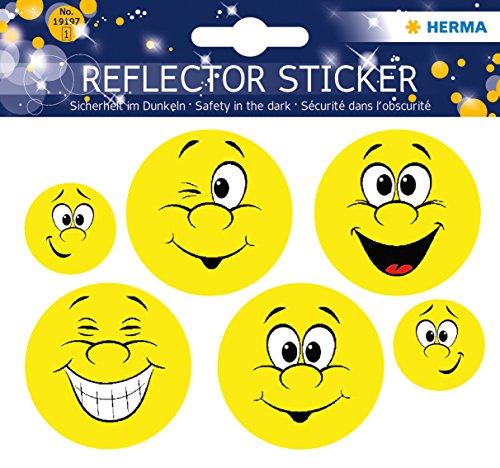 Herma 19197 Reflektor (Aufkleber Emoji, permanent haftend, für Kinder)