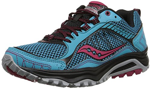 Saucony Women's Excursion Tr9 Road Running Shoe, Blue/Black/Red, 10 M US Blue/Black/Red