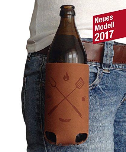 Bierholster BierBQ ? Das Original aus echtem Leder ? Bier Holster Bierhalter