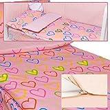 710003 Saco Nórdico Invierno Maxicuna 70x140cm Corazón Rosa (Obsequio Guía de guías para padres)