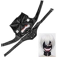 Tokyo ghoul kaneki ken masque Halloween cosplay Anime Costume Accessories en cuir réglable