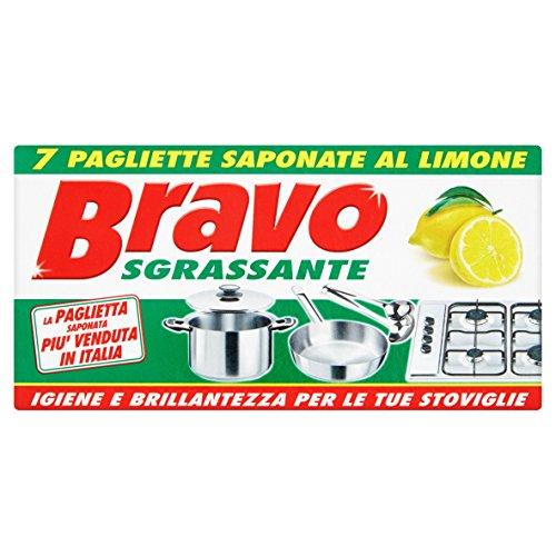 Bravo Pagliette Sgrassante - 1 Pacco da 30 x 7 - Totale: 210