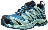 SALOMON XA PRO 3D GTX, Scarpe da Trail Running Donna, Blu (Fog Blue/Igloo Blue/Tonic Green), 39 1/3 EU