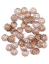 ILOVEDIY 500 Stück filigrane Perlkappen 6mm Perlenkappen Metall Spacer Zwischenperlen (Kupfer)