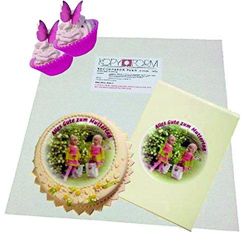Madaboutink Kopyform Kuchenverzierung Blatt essbares DecorPaper Plus - 5 Blatt A4 (Tinte Papier Und Essbare)