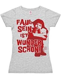 Pippi Langstrumpf - Faul Sein T-Shirt Damen - grau-meliert - Lizenziertes Originaldesign - LOGOSHIRT