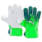 Puma 41446 02, Guanti Unisex – Adulto, Verde Gecko/Blu Scuro/Bianco, 4