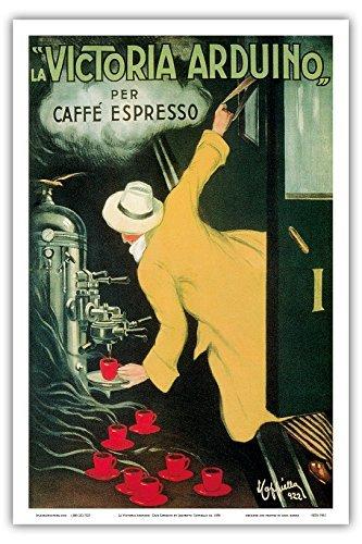 La Victoria arduino- Cafe Espresso; Jugendstil Vintage Plakat für Italienisches Kaffee Company; Belle Epoque, Jugendstil; Vintage italienische Poster Advertising;